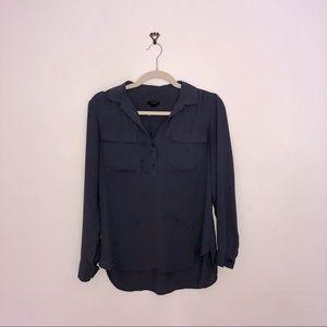 Black Ann Taylor button down blouse